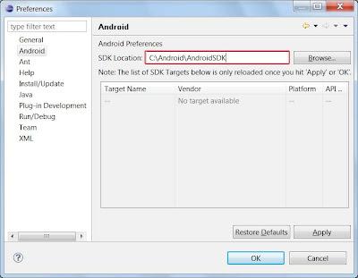 Instalacion SDK Android Windows 7