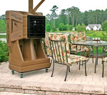 patio terrace cooler natural evaporative cooling