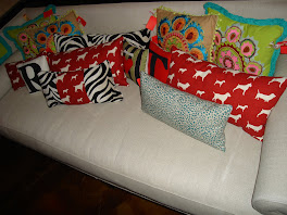 Embroidered and Red Chair Original Pillows