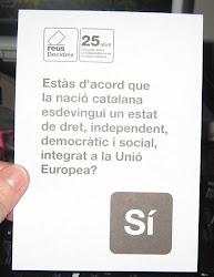 Sí, vull que la nació catalana sigui un Estat independent.