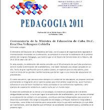 CONGRESO DE PEDAGOGÍA 2011 EN LA HABANA CUBA