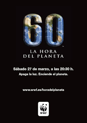 Cartel conmemorativo de La Hora del Planeta 2010
