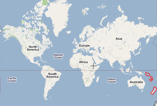 Darren 39 s Blog world map of New Zealand and the Pacific Islands