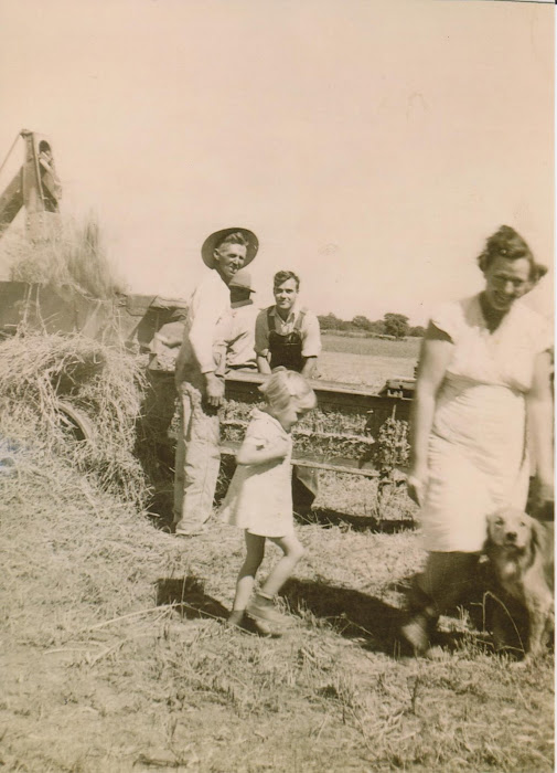 Reuben and Ruby Willburn Family Haying About 1936 At Benbrook