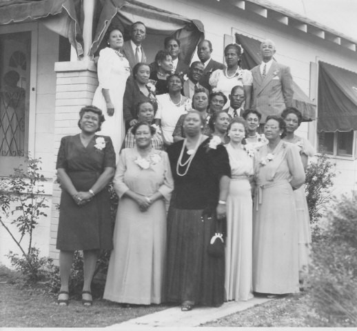 Momma Cannon and Club Members, at their own clubhouse about 1940