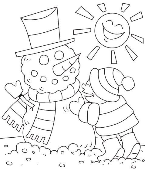 Snowman in winter coloring pages disney coloring pages for Disney winter coloring pages
