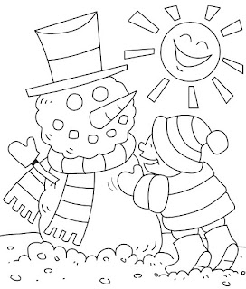 free coloring pages, winter coloring pages