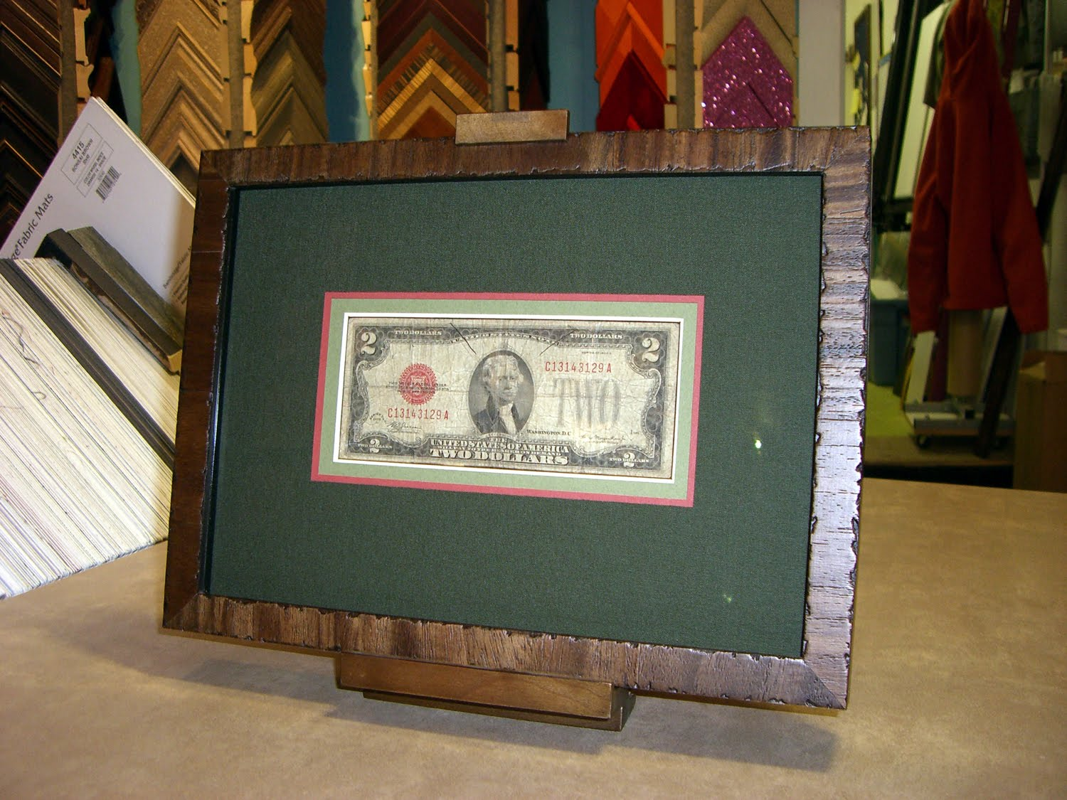 Dollar Bill Frame