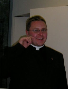 ... Hall next door. Father Douglas gave a warm-hearted speech of thanks