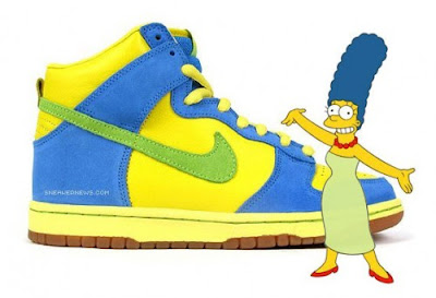 Marge Simpson Styled Skate Shoes