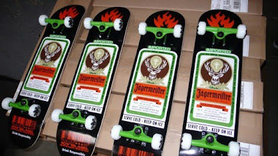 Black Label Skateboards Jagermeister Collaboration Skateboards