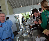 John and Megan at the Bedell tasting bar