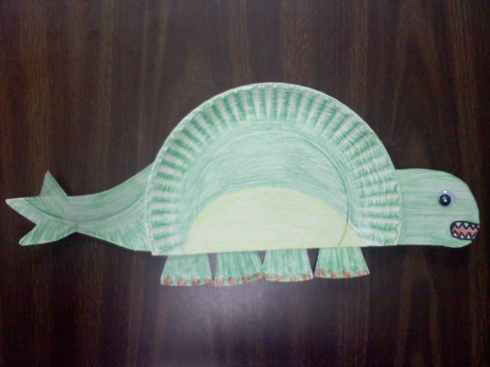 Paper Plate Dinosaur Template & Paper Crafts Ideas for Kids: Dinosaur Paper Plate Craft
