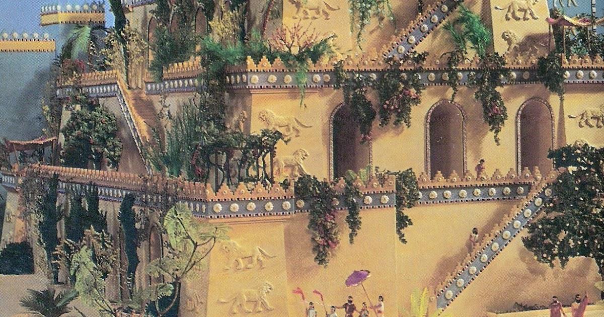 Arquitectura de los jardines for Jardines colgantes de babilonia