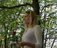click here for Full Size image of Karina delivering her eulogy