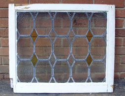 "English leaded window 26 1/2"" x 22 1/2"""
