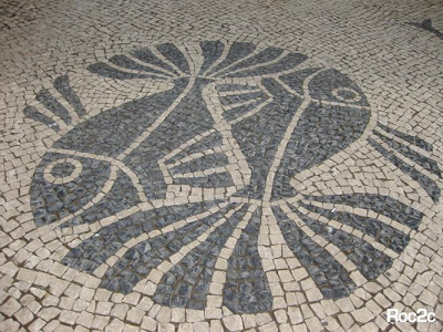 Portuguese mosaic of fish