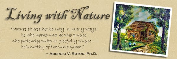 Living with Nature -  School on Blog by Dr. Abercio V. Rotor
