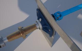 projektowanie i budowa jachtów: łożysko oporowe wału
