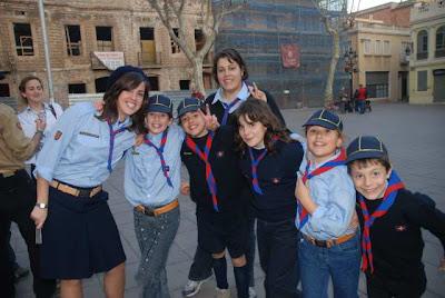 El nuevo grupo de lobatos de Scouts de Europa en Barcelona