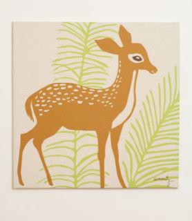 Woods Deer Print