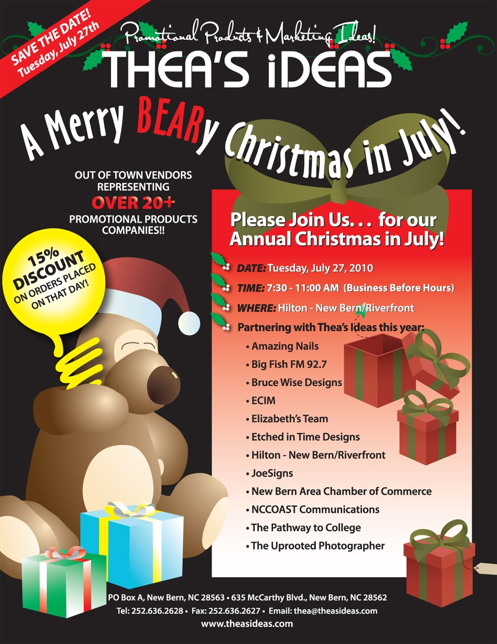 theas ideas presents a merry beary christmas in july