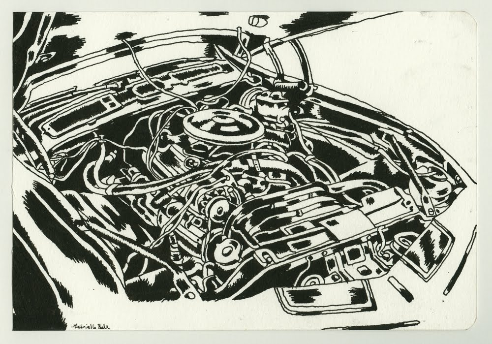 lula\'s walls: The Car Engine Invitational Drawing Show (and a flood)