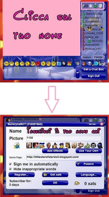 Cambiare il nome della chat