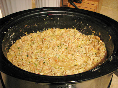 White chicken chili recipe in the slow cooker