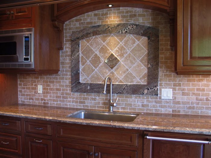 Design notes kitchen makeover on a budget counters and tile for Kitchen backsplash tile patterns