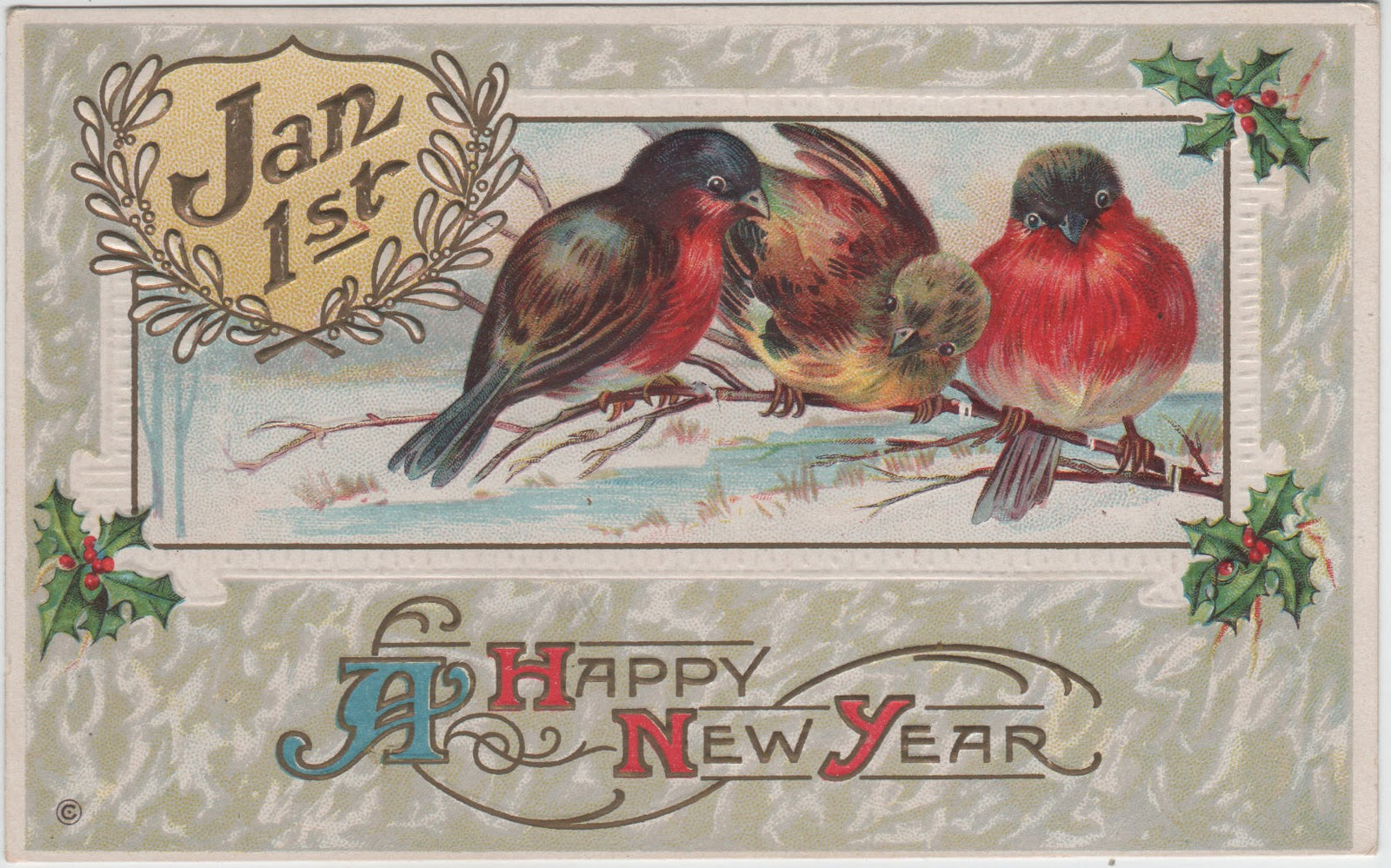 Vintage New Year Postcard 49