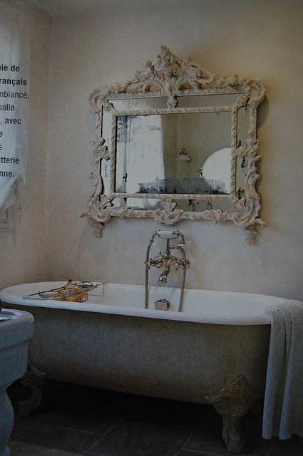 Design decor style vesca da bagno con piedini e uno - Specchio invecchiato ...