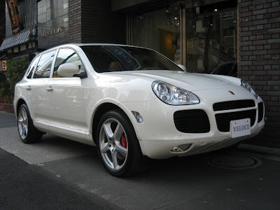 "Car: 08'Porsche Cayenne Turbo sitting on 21"" wheels, Back up camera,"
