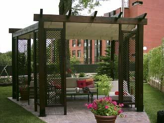 Dondehogar ideas para ambientar una terraza - Como hacer un toldo para pergola ...