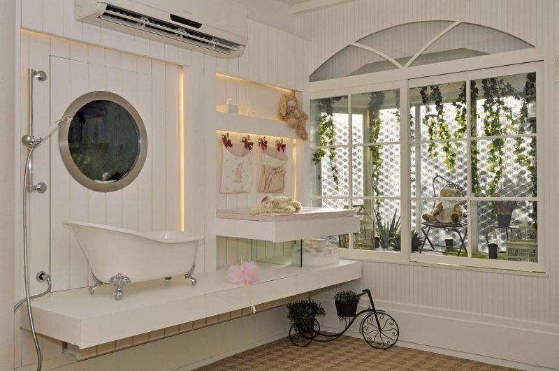 só para pequenos Banheirinho luxo para bebês! # Pia De Banheiro Estilo Provencal