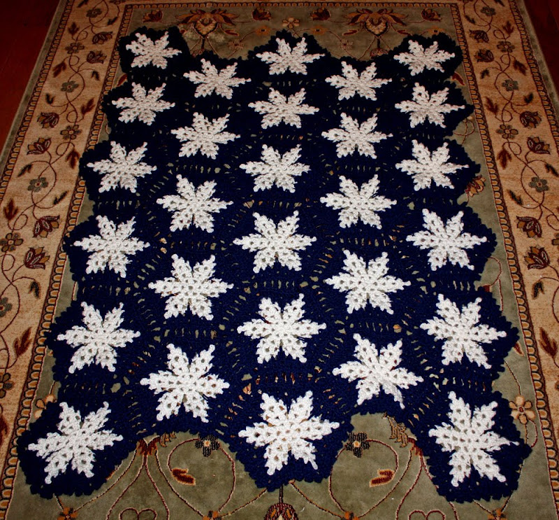 Inspired and Unscripted: Snowflake Crochet Afghan
