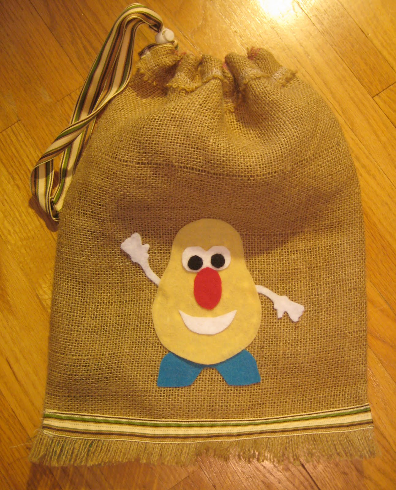Junk Mail Gems: DIY Burlap Sack Project Tutorial: Mr ...