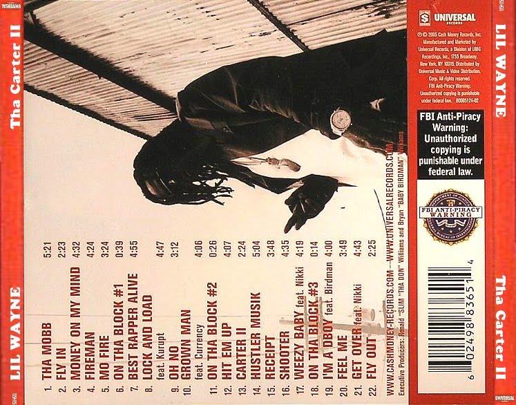 Lil Wayne - Tha Carter II (2005) 5th solo album by Lil Wayne.