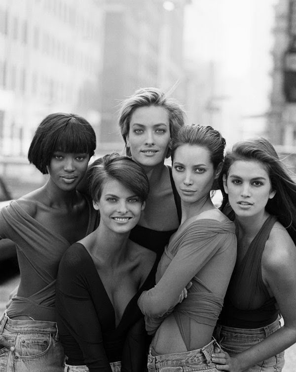 ... and Cindy Crawford by Peter Lindbergh for British Vogue January 1990