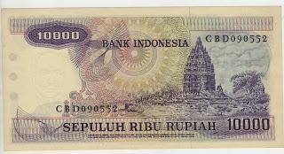 uang kuno, Indonesia,uang, koleksi,Rp, Uang Kuno,koin, mata uang, Seri,kertas, seri, Koleksi, Museum, harga,10000 Rupiah Gamelan