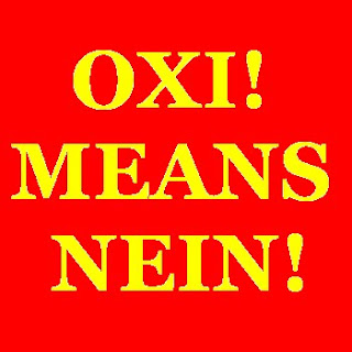 Greek workers general strike oxi nein EU austerity measures