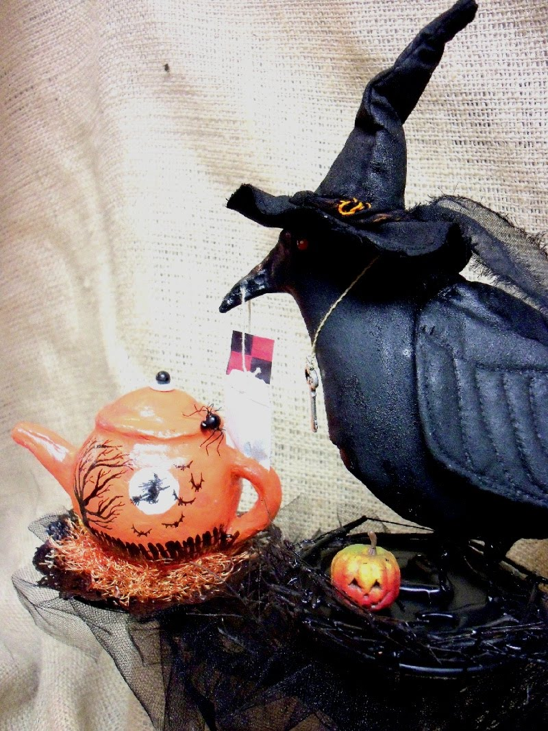 Ruffles and Crows Primitive Dolls by Alexa Ann: The Raven's Tea ...
