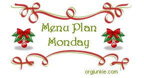 christmasmpm Menu Plan Monday