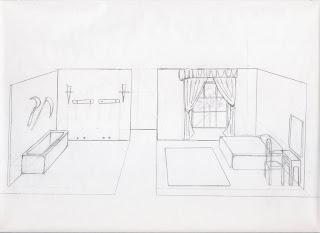 Boceto mazmorra y dormitorio