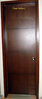 Casa ardeco puerta entamborada lisa color wengue 042 for Puerta entamborada