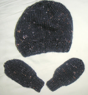 baby hat and mitts