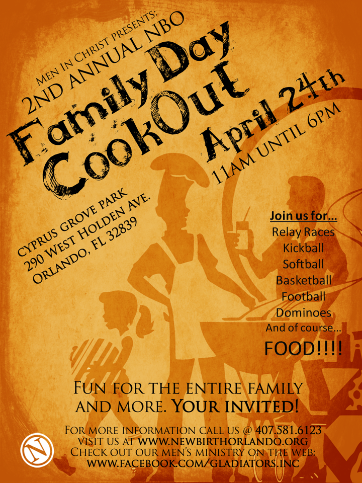 Gladiators stand up for Cookout flyer templates