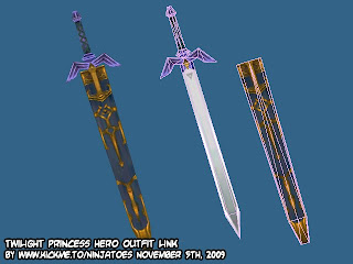 As you can see, I simplified the Master Sword quite a lot, although