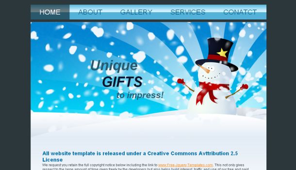 Christmas Blue White CSS Website Template
