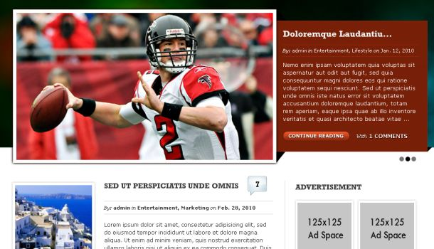 Magazine Wordpress Website Theme Template